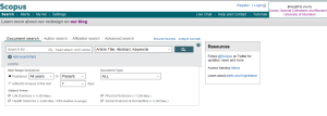 Scopus interface (Feb 2014)