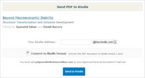 Send to Kindle option