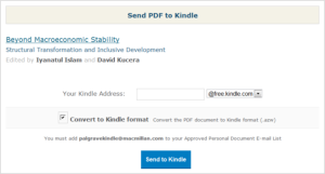 Send to Kindle option