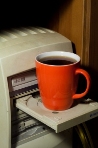 cd rom cup holder