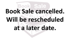 book sale cancelled