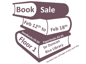 book sale at sir duncan rice library