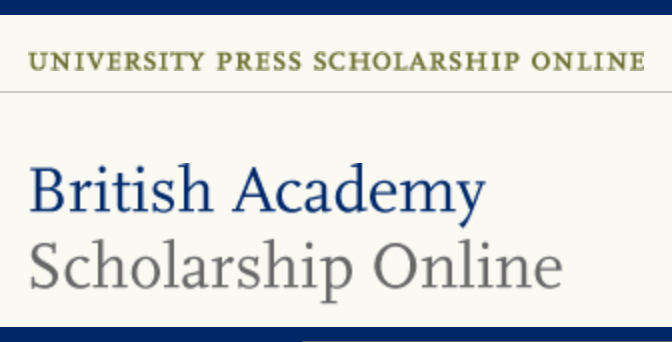 Logo of the University Press Scholarship Online and the British Academy