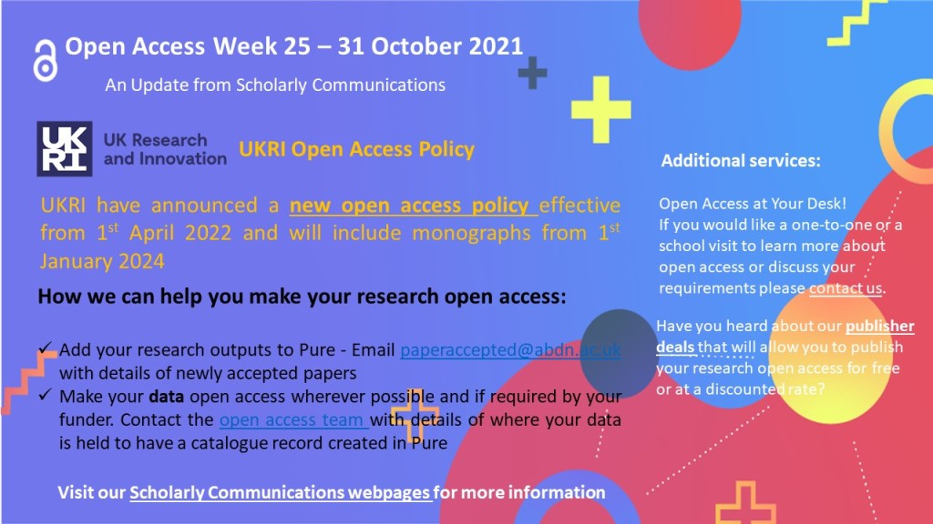 Information on the Open Access Week for 2021